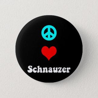 Peace love Schnauzer Pinback Button