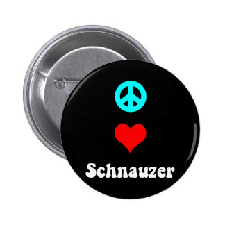 Peace love Schnauzer Pinback Buttons