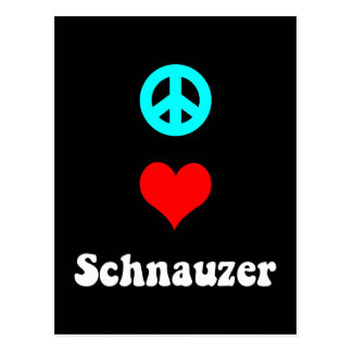 Peace love Schnauzer Post Card