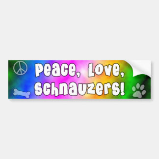 Peace Love Schnauzers Bumper Sticker