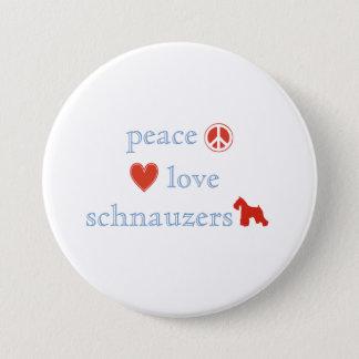 Peace Love Schnauzers Pinback Button