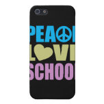 Peace Love School iPhone 5 Cases