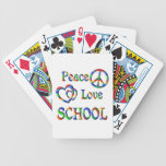 Peace Love SCHOOL Playing Cards