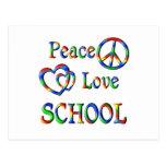 Peace Love SCHOOL Postcard