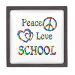 Peace Love SCHOOL Premium Trinket Box