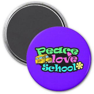 Peace, Love, School; Retro Magnet