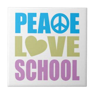 Peace Love School Ceramic Tiles