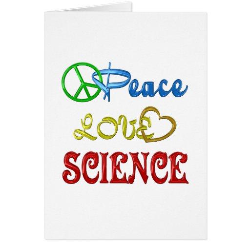 PEACE LOVE SCIENCE CARD