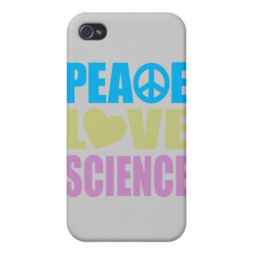 Peace Love Science iPhone 4 Covers