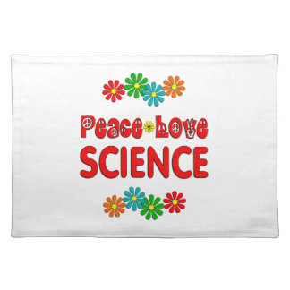 Peace Love Science Cloth Place Mat