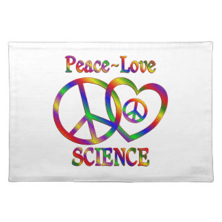 Peace Love Science Cloth Placemat