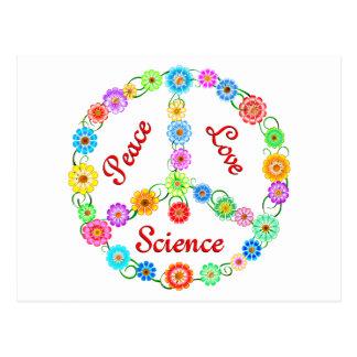 Peace Love Science Postcards