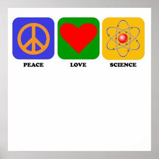 Peace Love Science Print