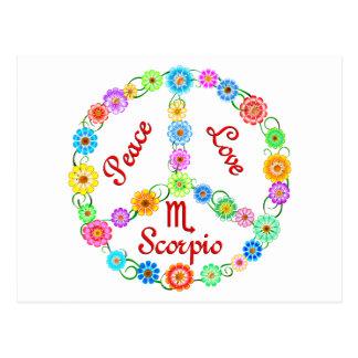 Peace Love Scorpio Postcard