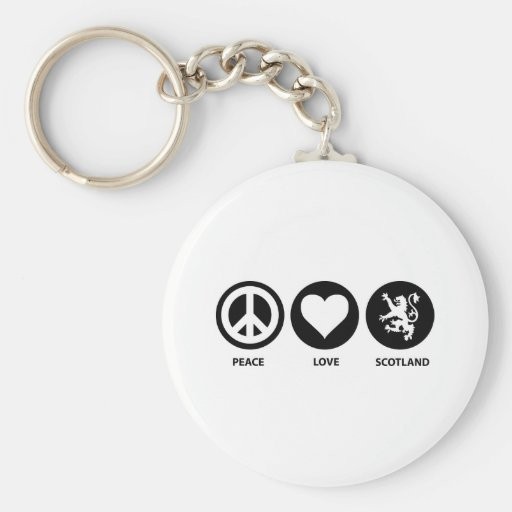 Peace Love Scotland Key Chains