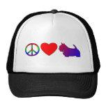 Peace Love Scotties Hat