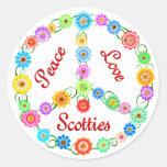 Peace Love Scotties Sticker