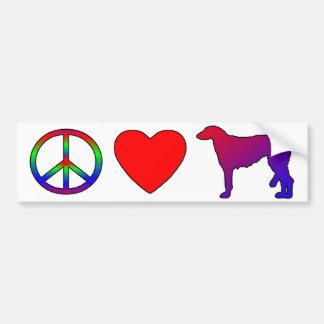 Peace Love Scottish Deerhounds Car Bumper Sticker