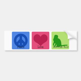 Peace Love Scottish Fold Car Bumper Sticker