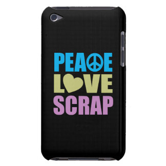 Peace Love Scrap Barely There iPod Cover