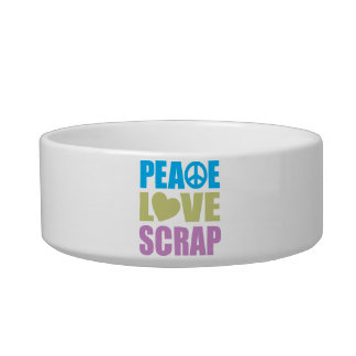 Peace Love Scrap Bowl