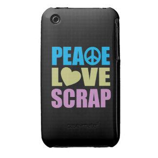 Peace Love Scrap iPhone 3 Case-Mate Case