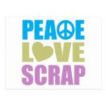 Peace Love Scrap Postcards