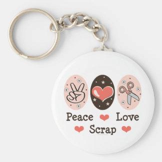 Peace Love Scrap Scrapbooking Key Chain