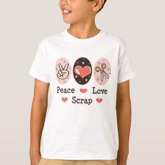 Peace Love Scrap Scrapbooking Kids T-shirt
