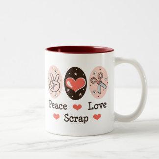 Peace Love Scrap Scrapbooking Mug