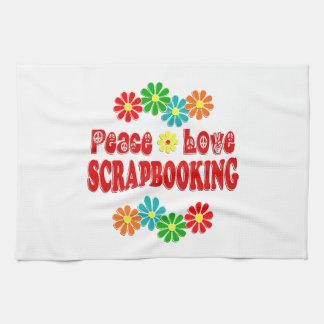 Peace Love Scrapbooking Hand Towel