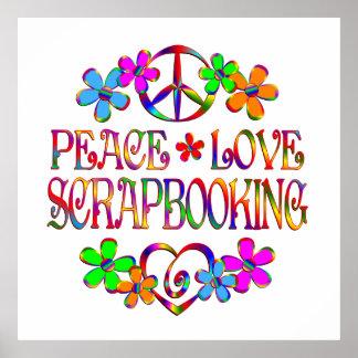 Peace Love Scrapbooking Poster
