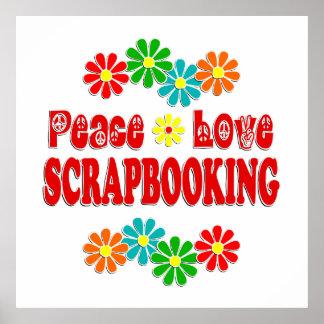 Peace Love Scrapbooking Print