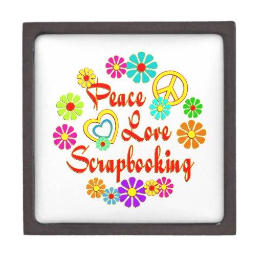 PEACE LOVE Scrapbooking Premium Keepsake Box
