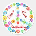 Peace Love Scrapbooking Stickers