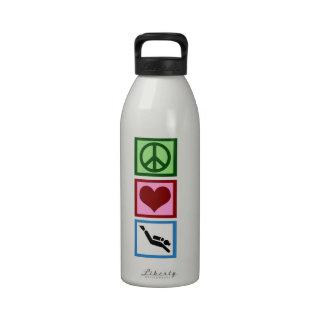 Peace Love Scuba Reusable Water Bottle