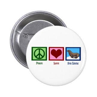 Peace Love Sea Lions Pinback Button