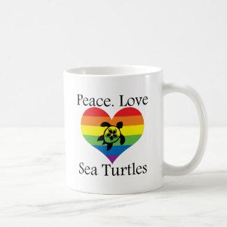 Peace. Love. Sea turtles Coffee Mug