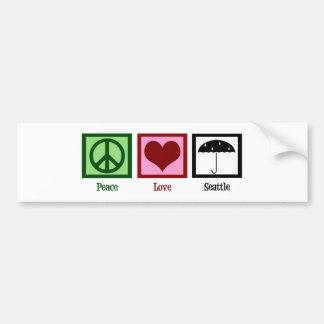 Peace Love Seattle Bumper Stickers
