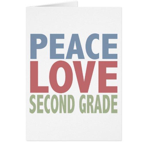 Peace Love Second Grade Cards