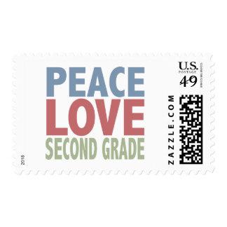 Peace Love Second Grade Postage