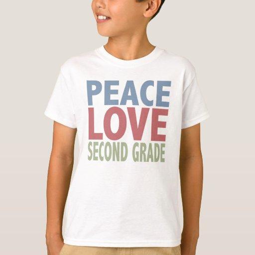 Peace Love Second Grade T-Shirt