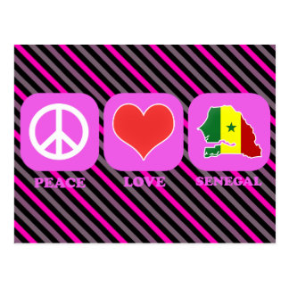 Peace Love Senegal Postcard