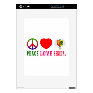 Peace Love Senegal Skin For iPad