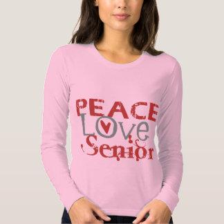 Peace Love Senior T Shirt