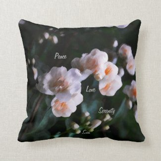 Peace Love Serenity  Throw Pillow