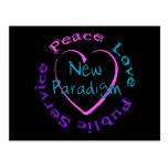 Peace Love Service Postcard