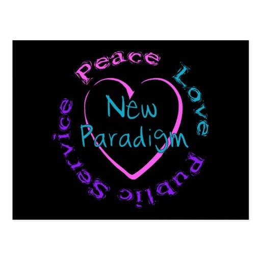 Peace Love Service Postcards