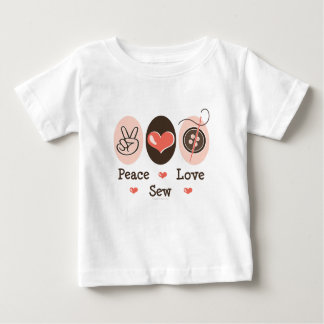 Peace Love Sew Sewing Infant Tee Shirt