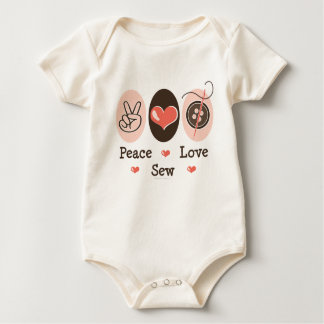 Peace Love Sew Sewing Organic Infant Creeper